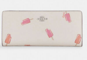 Coach Slim Wallet With Popsicle Print - NWT