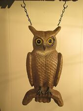 """""""BROWN OWL ON BRANCH"""" Replacement Sign - Resin Sign for Country Arrow Holders"""