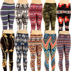 Plus Size Printed Leggings Graphic Color Stretchy Pants One Size Fits XL 2XL 3XL