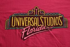 Vintage 80s 90s Universal Studios Florida T-Shirt L Pink