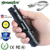 USA 20000LM Tactical XML-T6 LED Flashlight Zoomable USB Rechargeable Torch Lamp