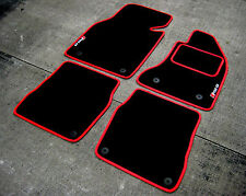 Deluxe Car Mats in Black/Red SUPER VELOUR - Audi RS6 C5 (2002-2004) + RS6 Logos