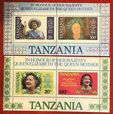 1985 Tanzania 269a-270a MNH - Queen Mother 85th Birthday souvenir sheets (2)