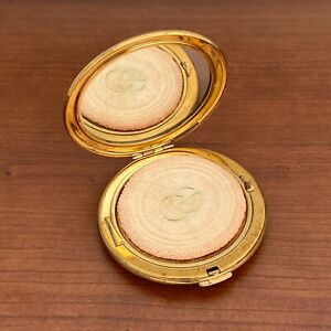 AUTH Gucci Women Compact Mirror  Vintage Gold