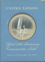 United Nations Official 25th Anniversary Commemorative Solid Sterling Silver