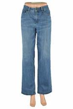 Jones New York Sport Women Jeans Straight Leg 14 Blue Cotton