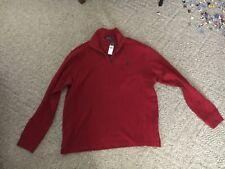 Mens Ralph Lauren Polo 1/4 Zip Pullover Shirt XL Red