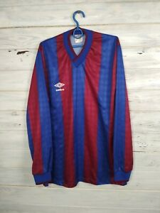 Umbro Jersey LARGE Long Sleeve Shirt Mens Trikot Camiseta Soccer Vintage Retro