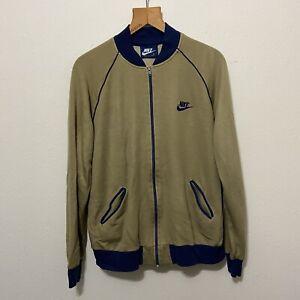 Vintage 80s NIKE Blue tag track Jacket full zip acrylic sweatshirt XL
