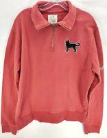 Men's The Black Dog 1/4 Zip Pullover Sweatshirt Sweater Size M Pink Salmon