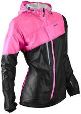 Sugoi Run For Cover Women's Running Hooded Jacket Black/Super Pink Large NEW
