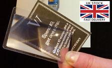 2x CREDIT CARD sized, flexible magnifying lense-UK STOCK-FREE P&P