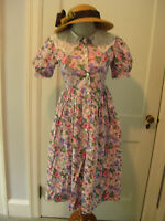 Therese Boutique Dress Pink Floral Rose Tea Garden Party Lace  spring 16 L