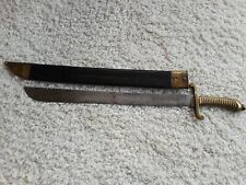 German Prussian Saxon Foot Pioneer Faschinemesser Short Sword M1845 w/ Scabbard