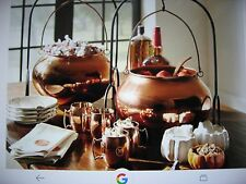 Pottery Barn Halloween Copper Candy Cauldron With Stand