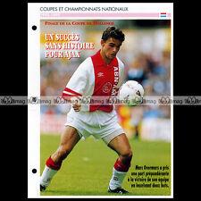 #007.05 AJAX AMSTERDAM-HEERENVEEN 1993 Photo : MARC OVERMARS - Fiche Football