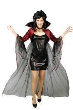 Cape boléro sorcière vampire gothique, dentelle col montant + CROIX NOIR ROUGE