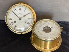 Schatz Royal Mariner Glasenuhr und Messing Barometer Maritime Instrumente