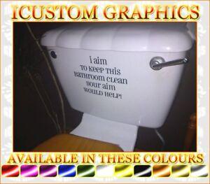 bathroom wall art toilet seat quote art novelty funny rude vinyl sticker decal