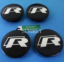 New Car Center Wheel Wheels Rim Rims Cap For VW R-LINE 65mm 4Pcs Black 3B7601171