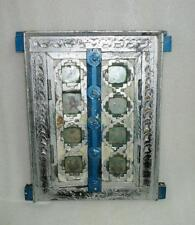 Vintage Old Glass Wood Beautiful Hand Crafted Indian Old House Window Door Frame