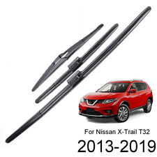 3Pcs Front Rear Wiper Blades Set For Nissan X-Trail Rogue 2014 2015 2016 2017