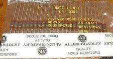Allen Bradley Carbon composition 1W 2.7M GB2751 x 25