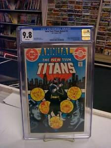 NEW TEEN TITANS ANNUAL #2 (DC, 1983) CGC Graded 9.8 ~VIGILANTE ~White Pages
