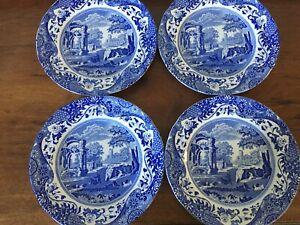 "4 Spode Blue Italian 23cm/9"" Lunch / Salad Plates"