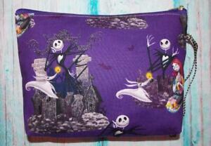 Fair Trade Wash Bag Make Up Bag Hand Made Nightmare Before Christmas Designer