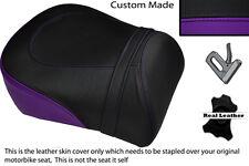 BLACK & PURPLE CUSTOM FITS SUZUKI INTRUDER VL 1500 98-04 REAR LEATHER SEAT COVER