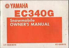 1983 YAMAHA EC340G LIT-12628-00-45 SNOWMOBILE OWNERS MANUAL(205)