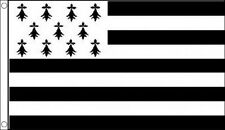 BRITTANY FLAG 5' x 3' Breton Bretagne France French Regional Region Flags