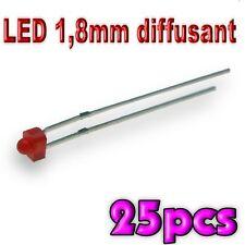 364/25# LED 1,8mm rouge diffusant 25 pcs