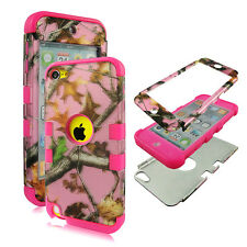 Pink Duck Kamo Pink Stp For Apple iPod Touch 6 6th Gen PCSoft 3 in1 Case Cover