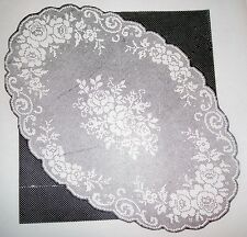 682 Vintage Design Oval Filet ROSES CLOTH Pattern to Crochet (reproduction)