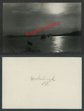 Photo Constantinople Navy seekreuzer Flag Half Moon Bosphorus Ottomans 1915