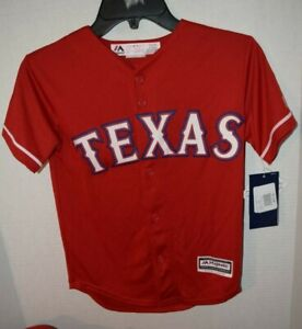 Texas Rangers Genuine MLB Majestic Cool Base Kids Youth Size Rougned Odor Jersey