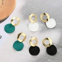 Women Geometric Boho Leopard Round Dangle Drop Hook Ear Stud Earrings Jewelry TR