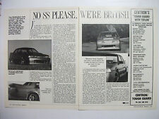 HOLDEN VL COMMODORE GROUP A SS IN BRITAIN 2 PAGE MAGAZINE REVIEW ARTICLE