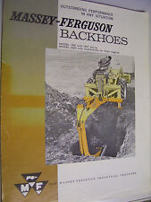 VINTAGE  MASSEY FERGUSON ADVERTISING BROCHURE -# 185 & 220 BACKHOES- 1965