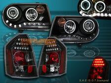 05-07 CHRYSLER 300C / SRT-8 PROJECTOR HEADLIGHTS TWIN HALO CCFL& LED TAIL LIGHTS