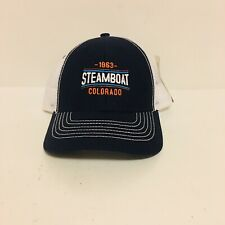 NWT OURAY 1963 Steamboat Colorado Snap Back Trucker Hat Cap Youth Blue/Orange