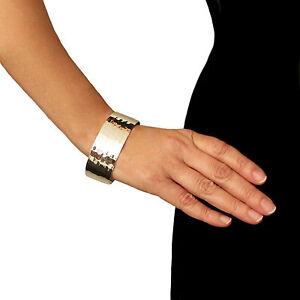 Großen 925 Sterling Silber Breite Armband Manschette gehämmert