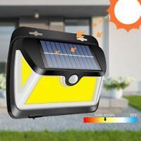 Lampada Solare 163LED Pannocchia con Sensore di Movimento Esterno Proiettori