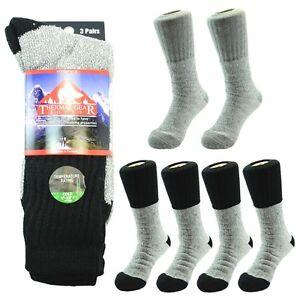 New Men THERMAL GEAR Winter Outdoor Hiking Socks 3-12 Pairs Socks Size 10-15