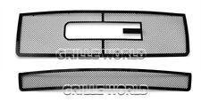 SS 1.8mm Black Mesh Grille Combo For 07-2013 GMC Sierra 1500 /07-2010 Denali