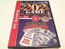 Valusoft PC Gaming 202 Game Collection & Ultimate Mahjongg Bonus Pinball New
