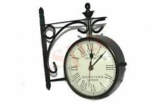 New Outdoor Nautical Black Station Wall Clock 6'' Roman Number