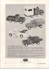 1963 PAPER AD Tonka Toy Trucks Dump Wrecker Tow Truck Pick-Up Camper Stake